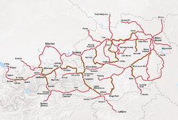 Rail Map Austria