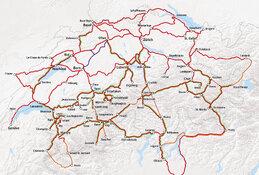 Rail Map Switzerland