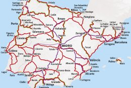 Map Of The Spain.Rail Map Spain Train In Spain Happyrail