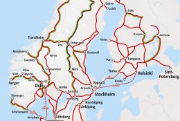 Rail Map Norway / Sweden