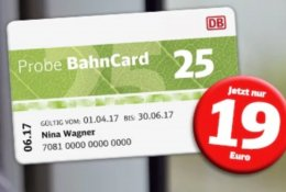 BAHNCARD - JUST €19