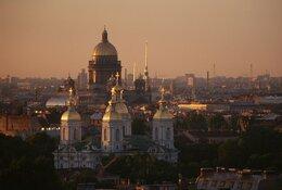 St. Petersburg per trein