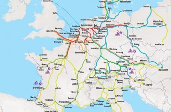 Trein en fiets - Kaart van alle treinen die fietsen meenemen