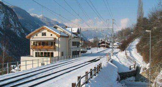 Wintersportvakantie Filisur, Zwitserland, Hotel Grischuna, trein & hotel