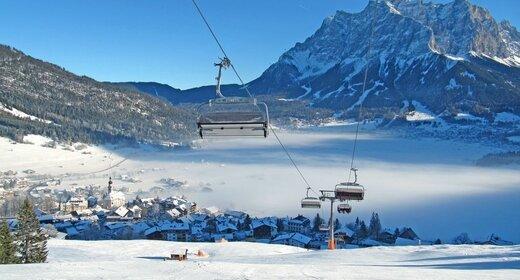 Wintersportvakantie Lermoos - Trein en Hotel - Pension en Appartementen Europa