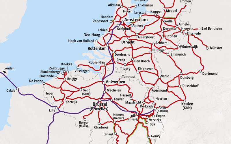 Trains in Belgium - Rail Map