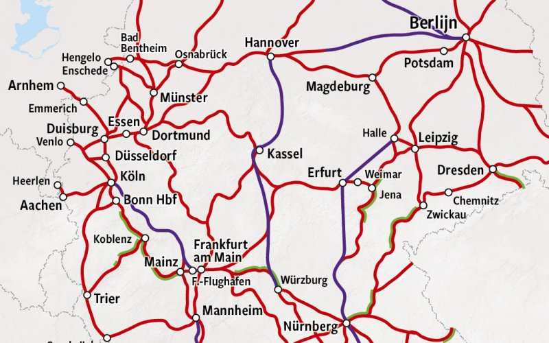 Trains in Germany - Rail Map