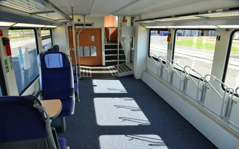 Trains [from] to [to] - Deutsche Bahn - Intercity interior bike carriage