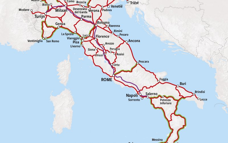 Trains in Italy - Rail Map