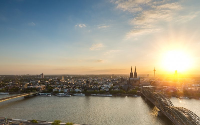 Trains to Cologne - City view
