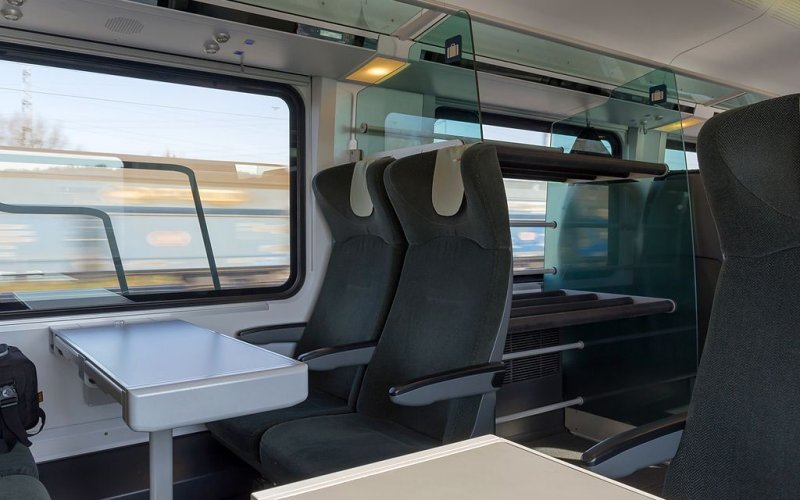 Trains [from] to [to] - OBB / Austria - Railjet second class interior