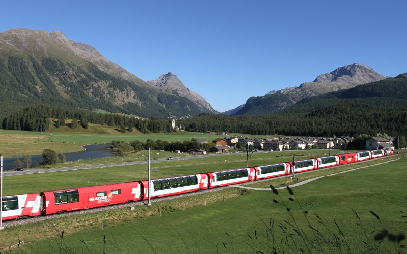 Trains in Switzerland - Glacier Express