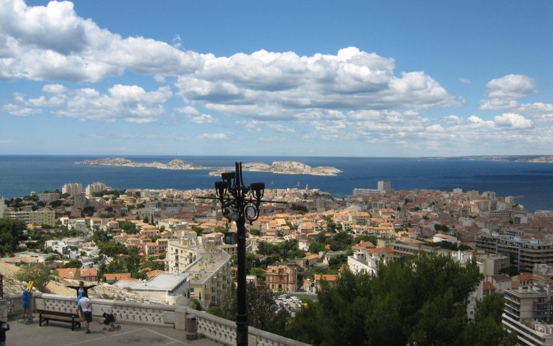 Trein naar Marseille - Stadsgezicht