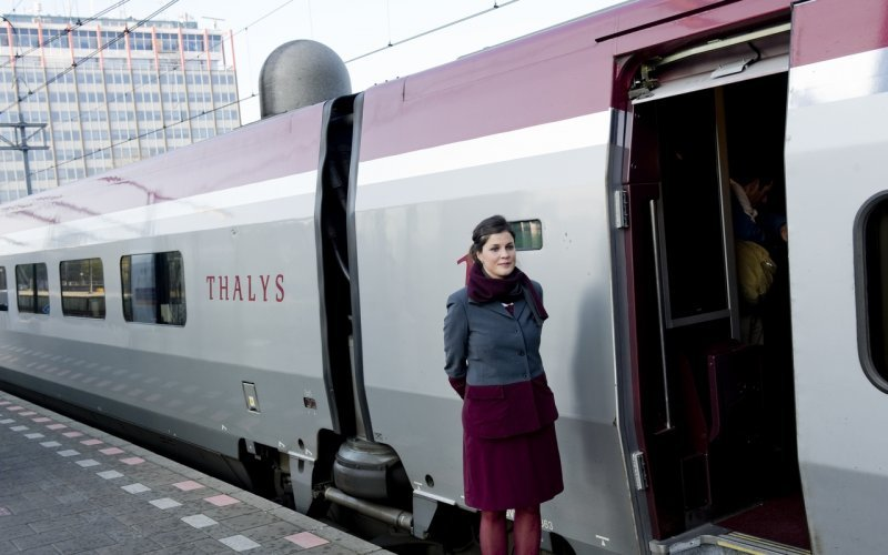 Trains Amsterdam C to Menton - Thalys ticket inspector