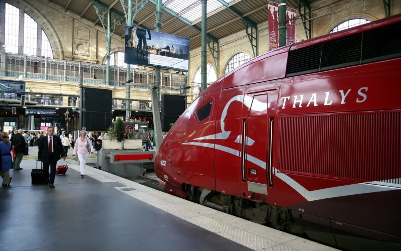 Trains Paris to Amsterdam - Thalys arrival Paris Gare du Nord