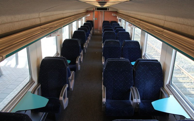 Trains [from] to [to] - NMBS / SNCB first class interior