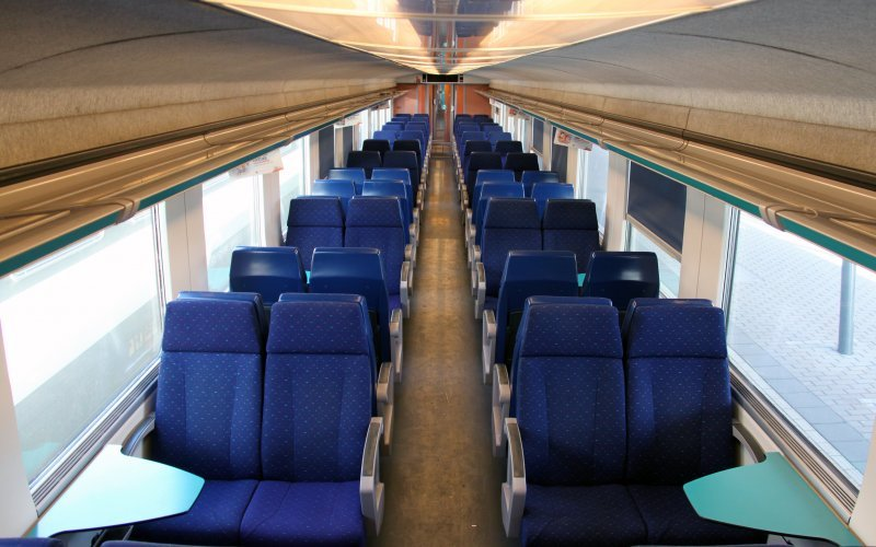 Trains [from] to [to] - NMBS / SNCB second class interior