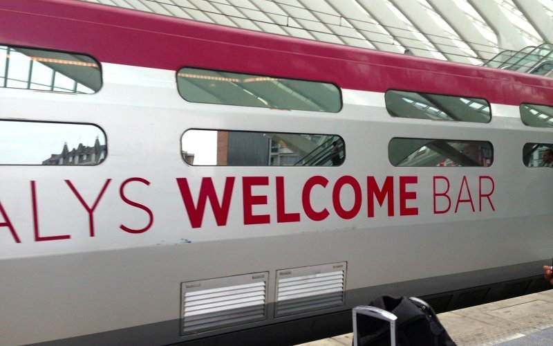 Trains Brussel-Midi/Zuid to Paris - Thalys restaurant / bar / dining