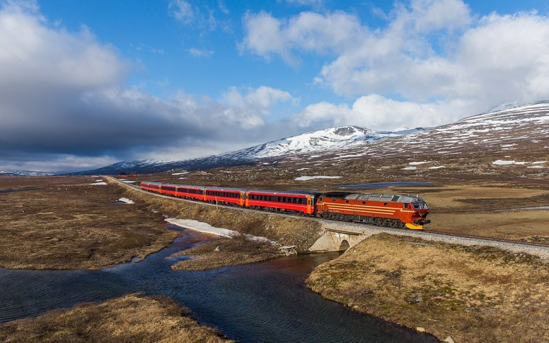 Night Train Norway | Trains in Norway | Night train on it's way to it's final destination