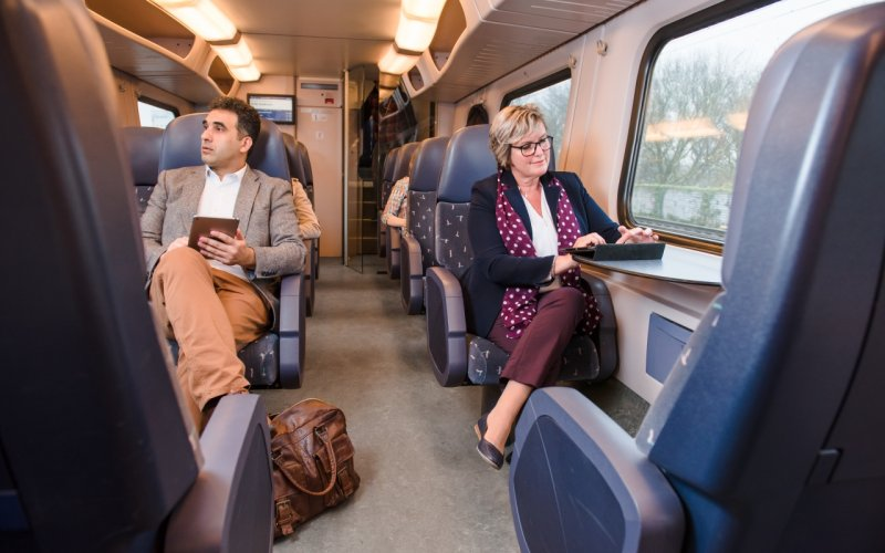InterCity The Netherlands | Trains in The Netherlands | 1st class interior