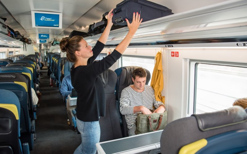 Trains Amsterdam to London - Eurostar luggage