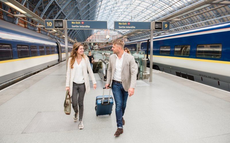 Trains to & from London | Travelers on London St Pancras