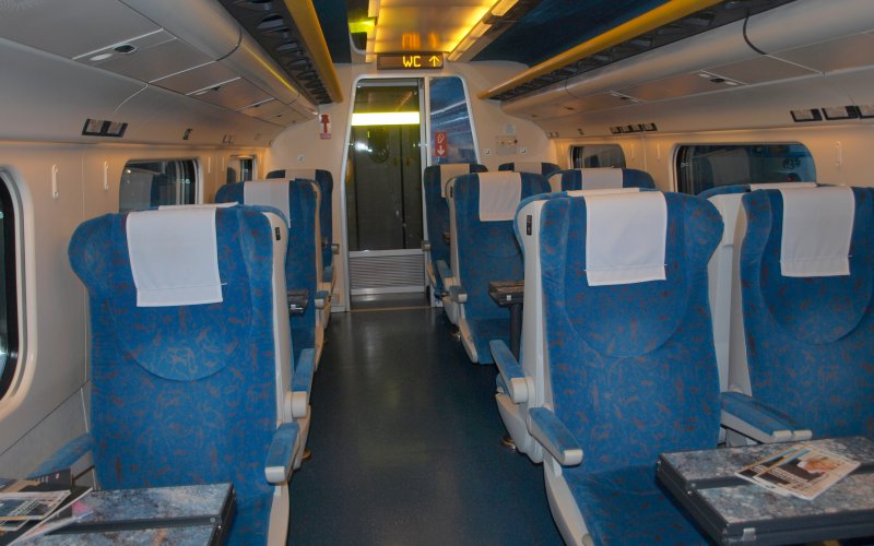 Train Reservations in Portugal | All Reservations & Passes | 1st Class interior Alfa Pendular