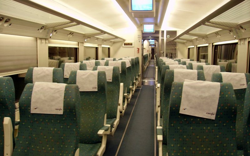 Altaria | Trains in Spain | Interior Turista Class