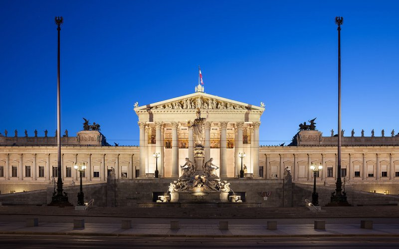 Trains to & from Vienna - Parliament in Vienna