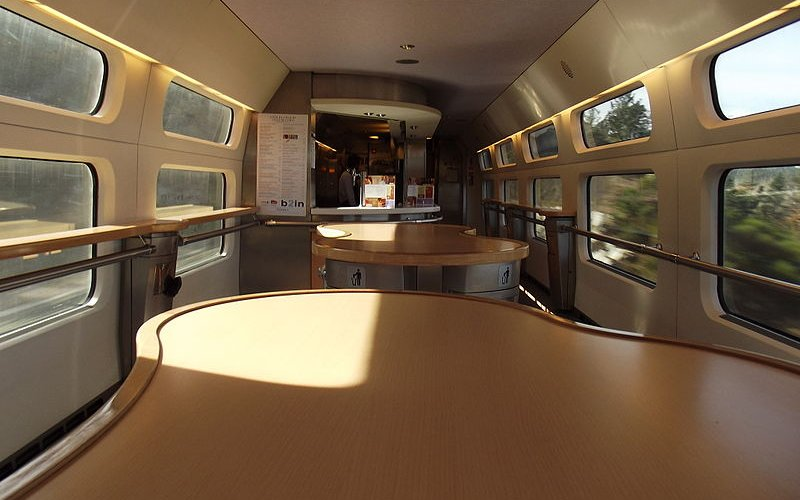 Trains Barcelona to Madrid - AVE High Speed Trains bistro