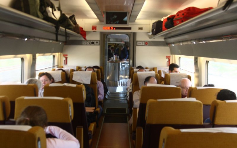 AVE | Trains in Spain | Turista class, 2nd class interior