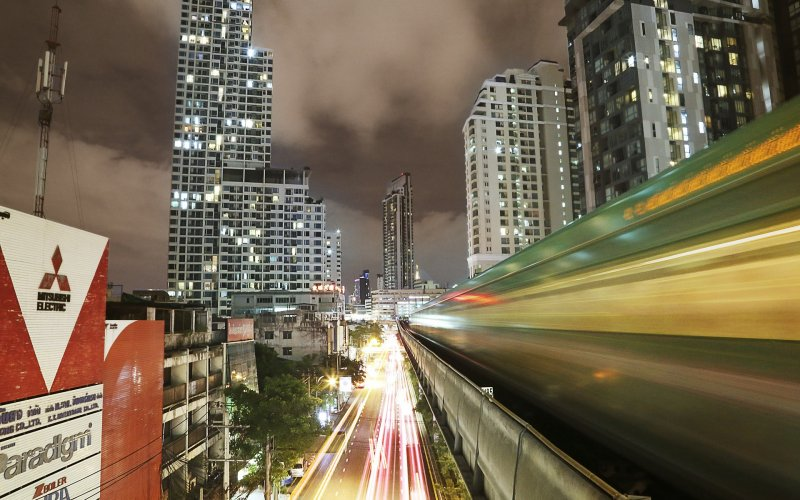 Thailand by train | Bangkok BTS Skytrain Airport to City Centre