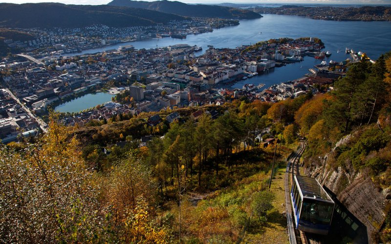 Trains to & from Bergen | Bergen city view