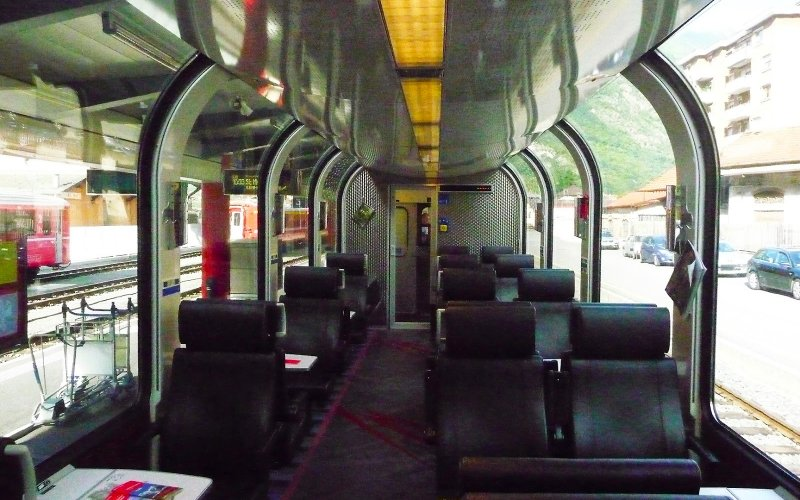 Bernina Express 1st class - Switzerland scenic routes - Train tickets and rail passes