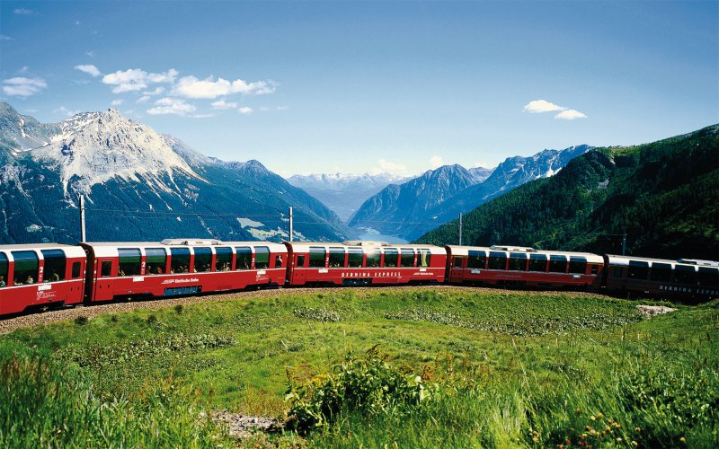 Bernina Express - Switzerland scenic routes - Train tickets and rail passes