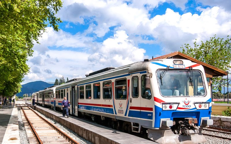 Train Reservations in Turkey | All Reservations & Passes | Bolgesel train in the railway station