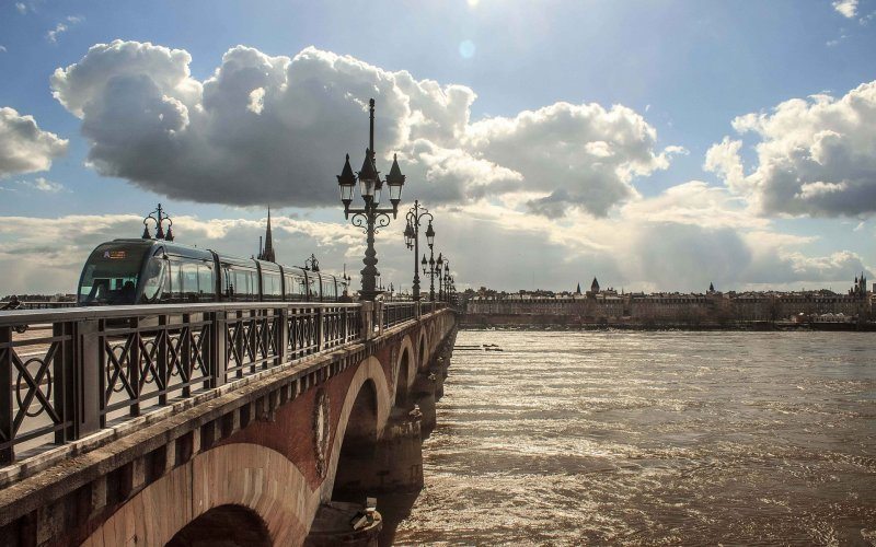 Book Your Eurail/Interrail Adventure at HappyRail | Trip Itineraries for Eurail | Bordeaux Bridge over the river