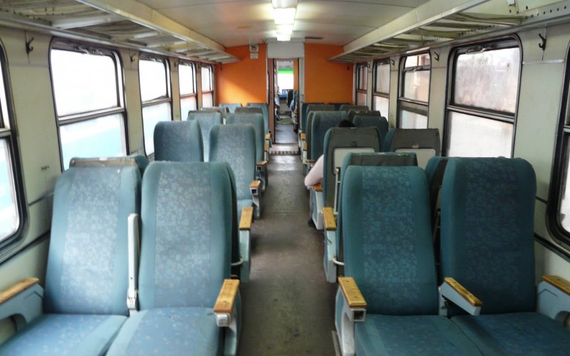 Trains in Bosnia Herzegovina | Interior 2nd class