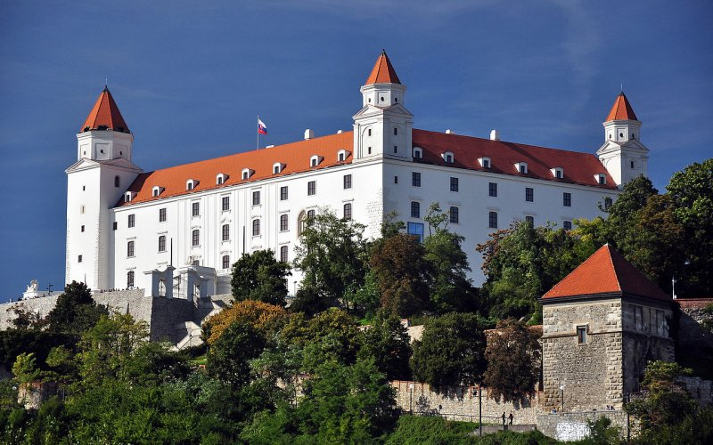 Trains to & from Bratislava | Castle on a hill