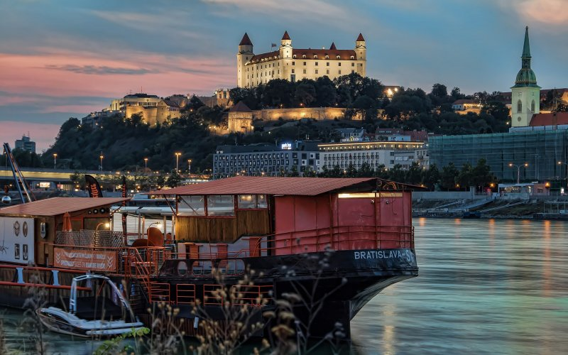 Trains to & from Bratislava | Bratislava castle and river