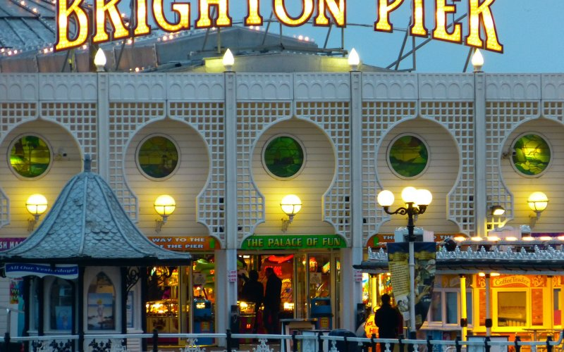 Trains to & from Brighton | Neon lights