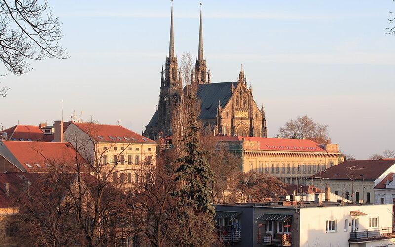 Trains Prague to Brno | Aerial view Brno