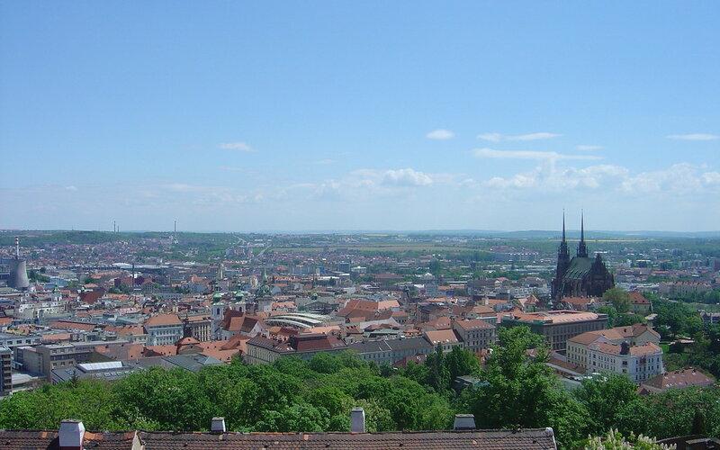 Trains Prague to Brno | Birds eye view over the city