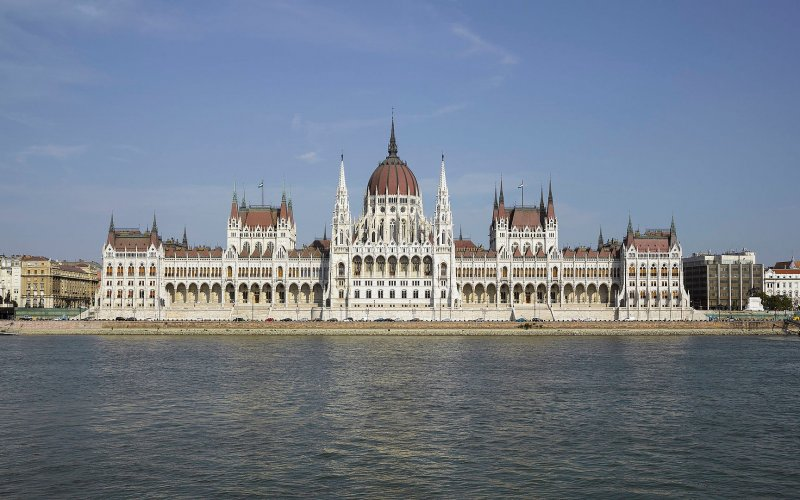 Trains to & from Budapest | Castle on the river bank of Danube river