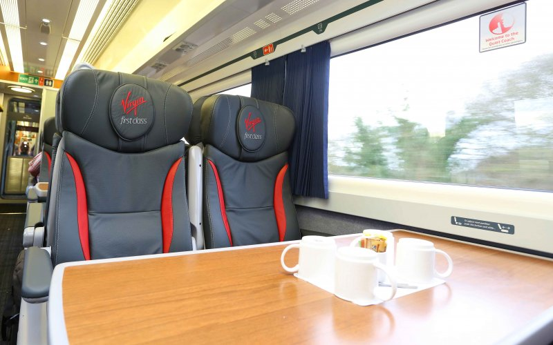 Trains Manchester to London - Virgin Trains - Cheap Train Tickets UK - 1st class