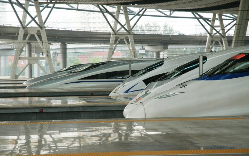 China by train | High-speed trains ready for departure