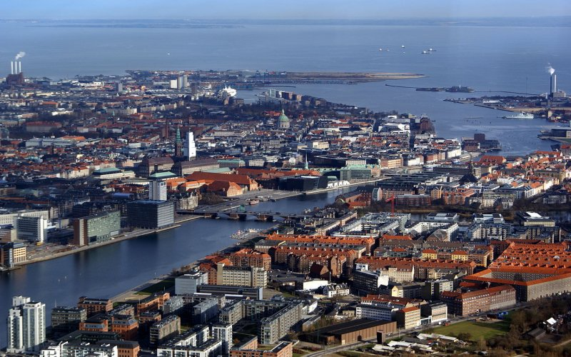 Trains to & from Copenhagen | City view of Copenhagen
