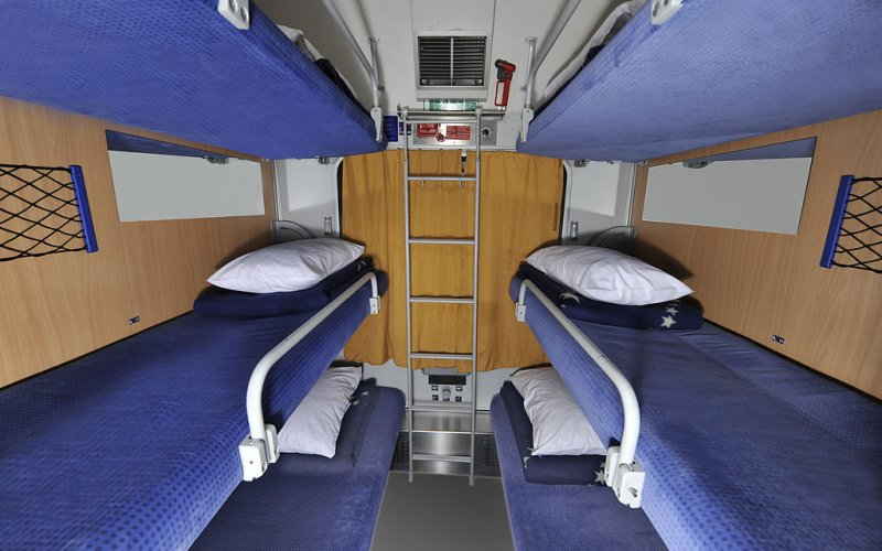 EuroNight | Trains in Europe | 6 berth compartment interior