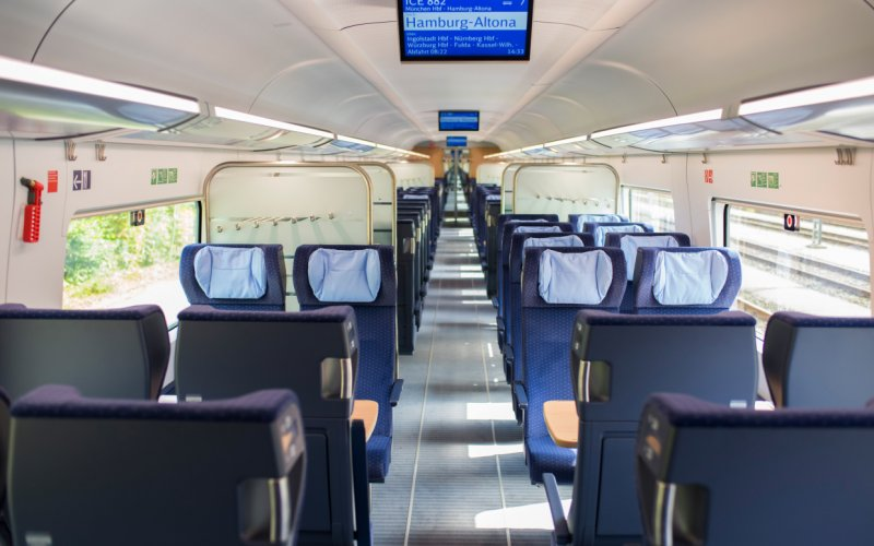Trains Nuremberg to Munich - ICE 2nd class
