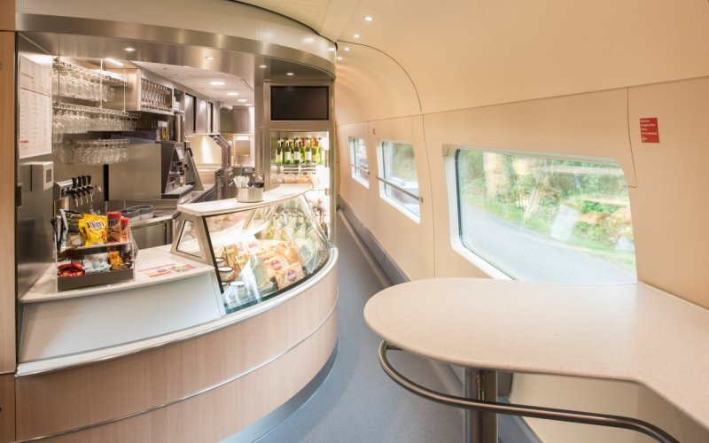 Trains Amsterdam to Berlin - Intercity Bistro